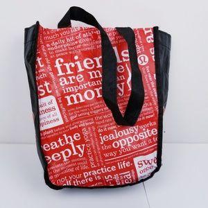 Lululemon Athletica Reusable Bag Travel Groceries